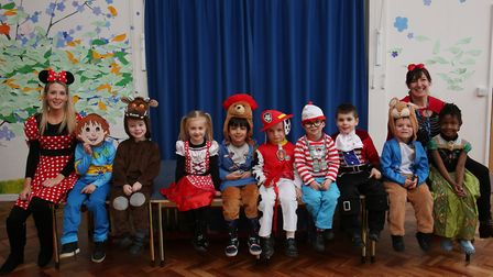 De Havilland Primary School reception pupils dressed as characters from their favourite books to cel