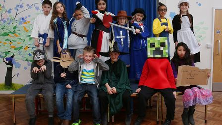 De Havilland Primary School year 5 pupils dressed as characters from their favourite books to celebr