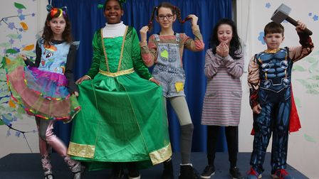 De Havilland Primary School year 6 pupils dressed as characters from their favourite books to celebr