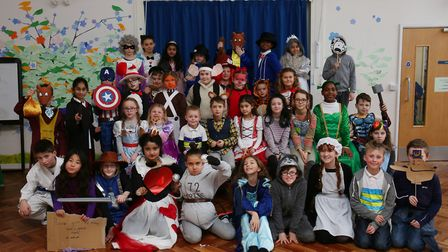 De Havilland Primary School pupils dressed as characters from their favourite books to celebrate Wor