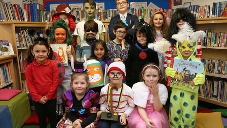 Pupils enjoying World Book Day at Cranborne Primary School in Potters Bar. Picture: Melissa Page
