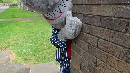Illegal Money Lending Team mascot Sid the Shark will be at Wisbech Market Place this Friday
