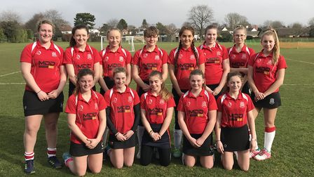 The Wisbech Town Under 16 Girls team are Issy Oldershaw-Ellis, Charlotte Mair, Lily Amps, Agata Rata