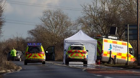 Man killed after a car was involved in a series of crashes on A47 - Tuesday February 27 2018. Photo: