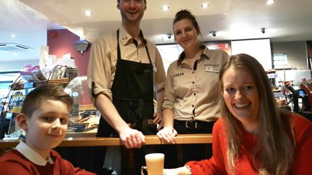 Lisa Bradley has won free Costa Coffee for an entire year after being entered into a Mother's Day co
