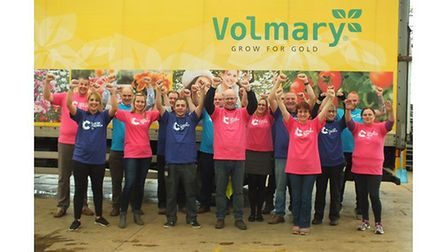The team at Volmary who are taking on the annual King's Lynn GEAR 10km run to raise £2,500 for Cance