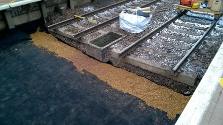 Network Rail completes major work to improve drainage at Potters Bar station. Picture: Network Rail