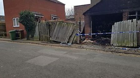 Park Road fire at Wisbech. Photo: Emma Knight