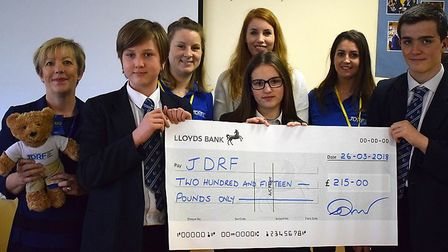 Knightsfield pupils raised money for diabetes charity JDRF. Picture: Knightsfield School.