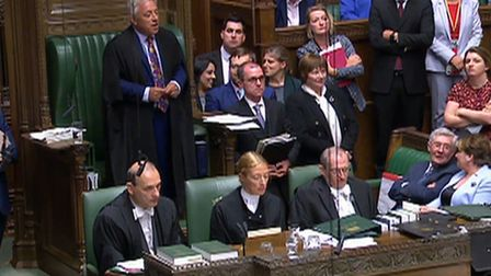 Speaker John Bercow in the House of Commons. Photograph: House of Commons/PA Wire.