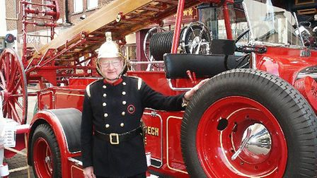 George Dunlop with Vivien the fire engine