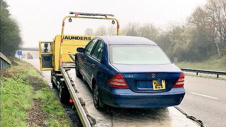 A Mercedes was seized on the A1(M) at Welwyn. Picture: BCH Road Policing