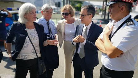 MEPs meeting Gibraltar minister Joseph Garcia to discuss no-deal Brexit plans. Picture: supplied by