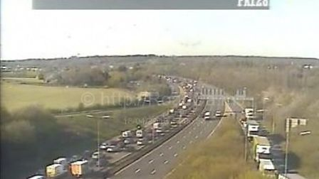 Traffic on the A1(M) near Junction 4 for Hatfield's Tesco. Picture: Highways England.