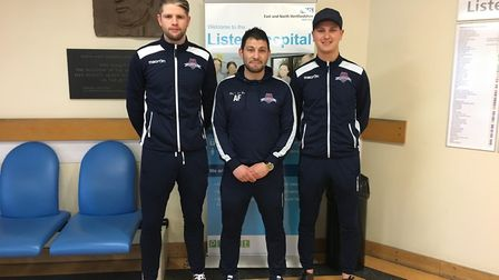 Welwyn Garden City's Adam Fisher, Dan Bond and Ash Kersey took time out of their Easter Monday to pr