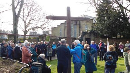 Around 150 people gathered together in the centre of Wisbech to take part in Wisbech Churches Togeth