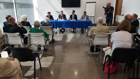 MEPs, NI Assembly members and peers receive a briefing on no-deal Brexit preparations from Gibraltar
