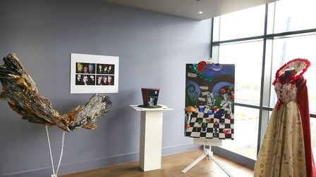 College of West Anglia Wisbech art and design students are currently exhibiting their film-inspired