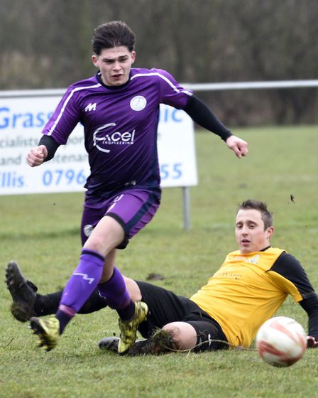 Jack Friend scored a brilliant goal in Wisbech St Mary's success at AFC Sudbury Reserves last Saturd