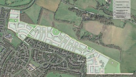 Mariposa Investments and Homes England's plans for the former Panshanger airfield site. Picture: Mar