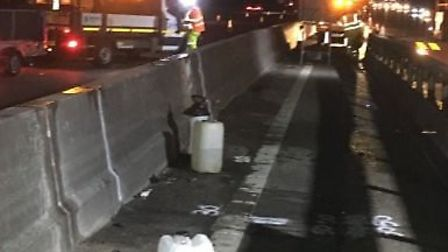 Maintenance work taking place on the M25 between Potters Bar and Enfield. Picture credit: Highways E