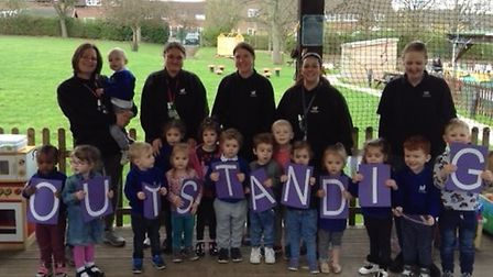 Knightsfield Pre-Schoolers scooped an 'outstanding' Ofsted grade. Picture: Claire Mason.