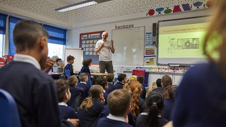 Pupils at Howe Dell Primary School enjoying the workshop. Picture: Time Code Pro Limited.