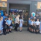 The Knebworth School pupils at the grand opening of the new Co-op store in London Road. Picture: Sup