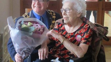 Margaret Rowley was joined by her family and friends to raise a glass on her 100th birthday. PHOTO: