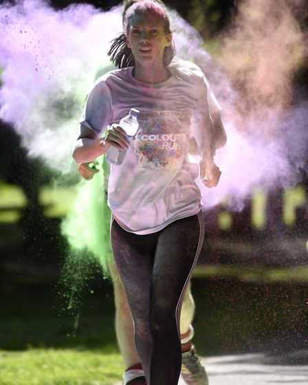 Hundreds of runners crossed the finish line at Wisbech Town Park looking like rainbows as the annual