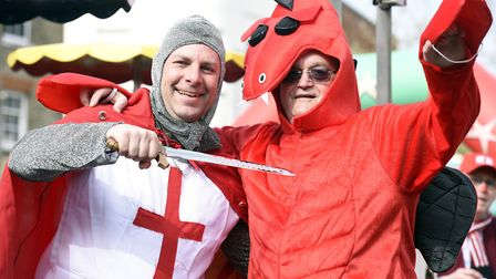 Wisbech St George's day Councillor Andrew Lynne and Councillor Peter Human PHOTO: Ian Carter