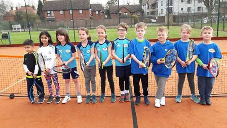 Wisbech Tennis Club open day. Ten junior players shown in the photograph took part in a Mini Red Tou