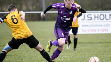Nick Davey scored in Wisbech St Mary's wins at Diss and Team Bury. Picture: IAN CARTER