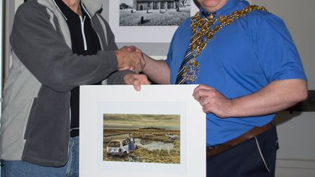 The Mayor of Wisbech, Councillor Steve Tierney, officiated with the opening of the event. He is pict