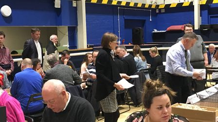 An anxious wait during the count in Campus West.