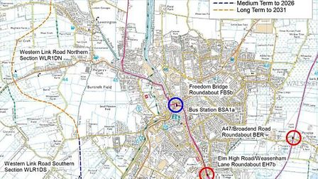Wisbech Access Strategy Locations.