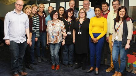 Hatfield Connect Reopening - Angela Gaughan with her team of friends and volunteers. Picture: Kary