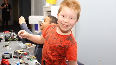 Hatfield Connect Reopening - Beaumont Conway-Starns, 7, plays with the lego.Picture: Karyn Haddo