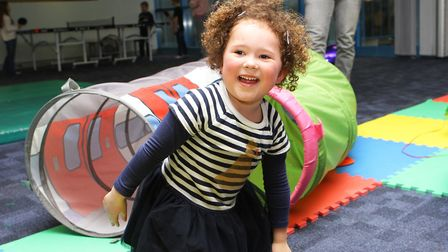 Hatfield Connect Reopening - Amelie Sutherland, 3, enjoys playing in the soft play area.Picture: