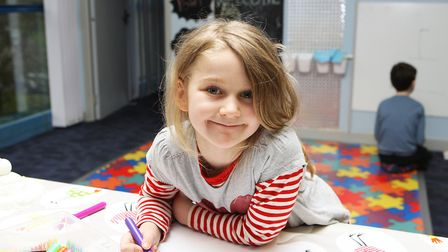 Hatfield Connect Reopening - Elkie, 7, enjoys drawing a picture.Picture: Karyn Haddon