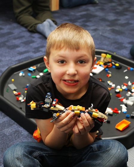 Hatfield Connect Reopening - Fred Burroughs, 8, plays with the lego.Picture: Karyn Haddon