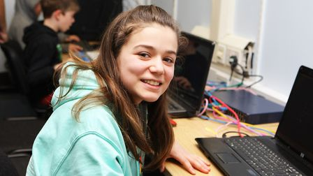 Hatfield Connect Reopening - Alice Hoxha, 11, enjoys the computer games.Picture: Karyn Haddon