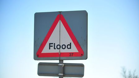 Flood sign. Picture: Harry Rutter
