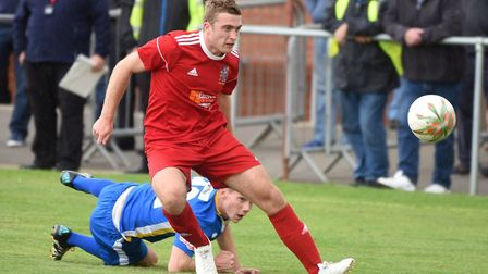 Adam Millson hit the goal that sealed promotion for Wisbech Town. Picture: IAN CARTER