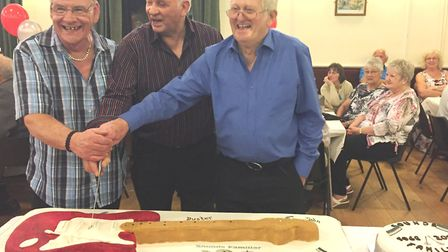A farewell party was held for Sounds Familiar after their final gig on April 21 at Upwell Village Ha