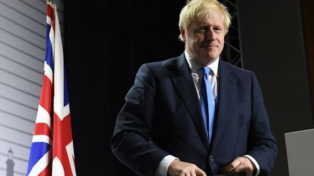 Boris Johnson during a press conference at the conclusion of the G7 summit in Biarritz, France. Phot