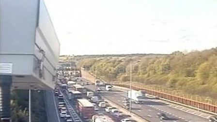 The M25 between Junction 23 for South Mimms and Junction 22 for St Albans. Picture: Highways England