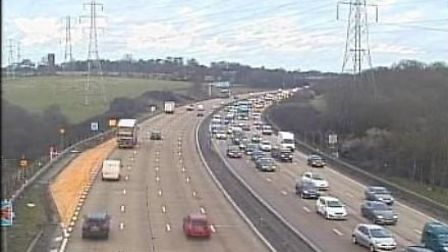 The M25 between Potters Bar and Enfield. Picture: Highways England.