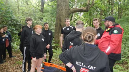 The learners are studying uniformed and public services at the College of West Anglia