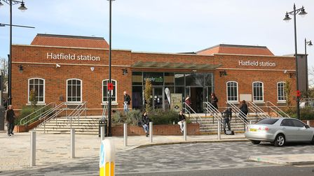 Hatfield Station is opposite the entrance to Hatfield Park. Picture: Danny Loo